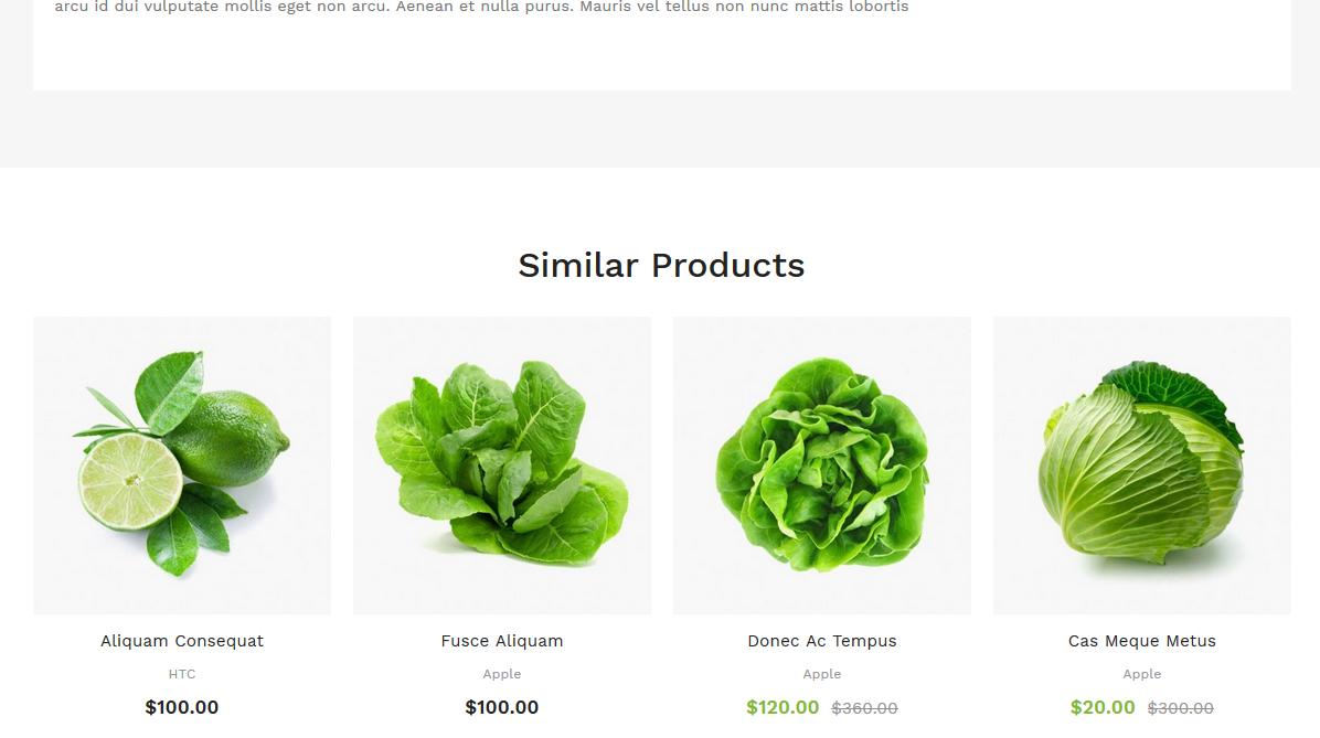 Подобни продукти на продуктова страница